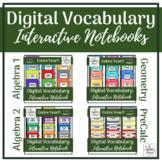 High School Math Digital Vocabulary INB Bundle   PreCalcul