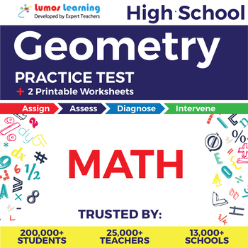High School Math Geometry Online Assessment & Printable Worksheets