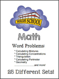 High School Math - Mega Bundle of Word Problems