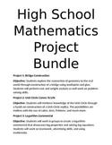 High School Math Project Bundle- Geometry, Unit Circle, Lo