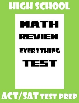 High School Math Basics Review Test