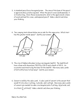 High School Math Station: Geometry  / Prisms