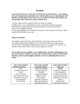 High School Math Syllabus