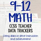 High School Math Teacher Data Trackers