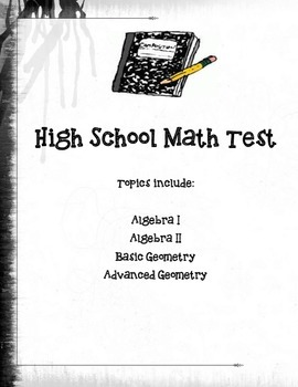 Math Test 1-High School