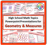 High School Math Topics: GEOMETRY & MEASURES