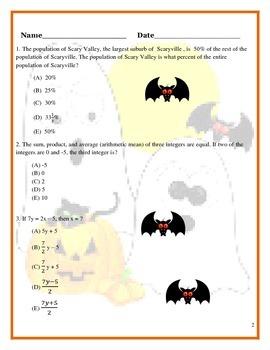 High School Math for Halloween