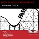 High School Mathematics Math Polynomials Review