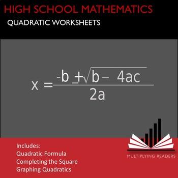 High School Mathematics Math Quadratic Worksheets