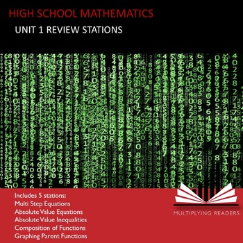 High School Mathematics Math Unit 1 Review Stations