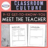 High School Meet the Teacher Activity {Printable and Digital}