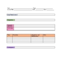 High School Middle School Lesson Template