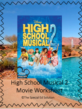 High School Musical 2 Movie Worksheet