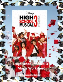 High School Musical 3 Movie Worksheet