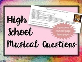 High School Musical Video Questions