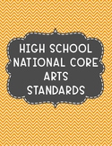 High School - National CORE Arts Standards