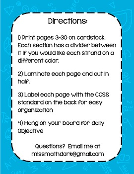 """Number & Quantity HS Math CCSS """"I Can"""" Statements"""