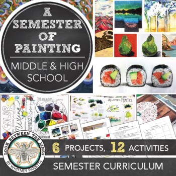 High School Painting or 2D Design Course: A Semester Long Lesson Pack