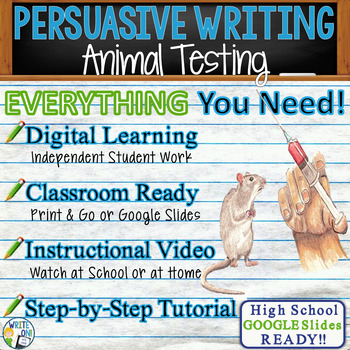 PERSUASIVE WRITING PROMPT - Animal Testing - High School