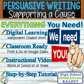 Persuasive Writing Lesson / Prompt – with Digital Resource – Supporting a Cause
