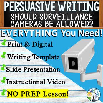 PERSUASIVE WRITING PROMPT - Surveillance Cameras in Public