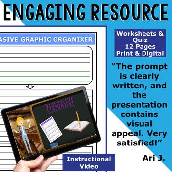 PERSUASIVE WRITING PROMPT - Time Capsule Item - High School