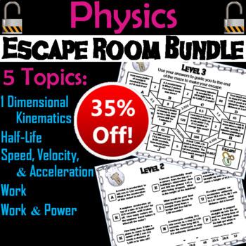 High School Physics Escape Room Bundle