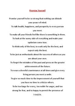High School Poetry