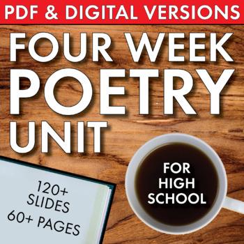 High School Poetry Unit, 4 Weeks, Print & Teach, Lit. Analysis, Multimedia, CCSS