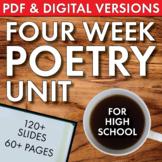 High School Poetry Unit, 4 Weeks, Analysis + Fun Supplemen