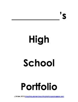 Middle School to High School Transition Planning Portfolio