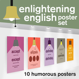High School Posters - Middle School Posters - Grammar Punctuation Posters