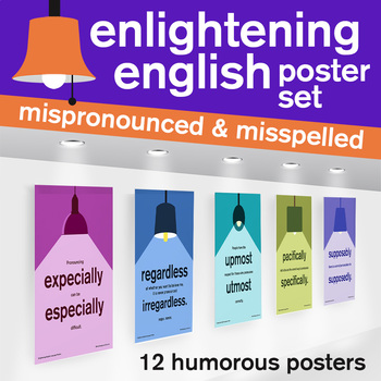 High School Posters - Middle School Posters - Mispronounced Misspelled Vocab