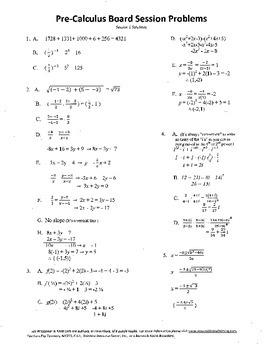High School Pre-Calculus,Mathematics,Algebra,activities,Combo Package 17