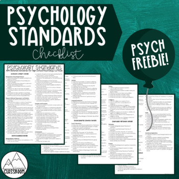 High School Psychology Standards Checklist