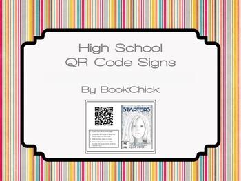 High School QR Code Signs Book Trailers Set #1