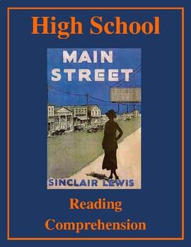 "High School Reading Comprehension: Fiction - Sinclair Lewis' ""Main Street"""