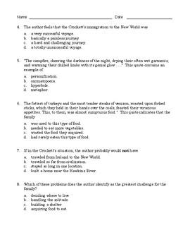 High School Reading Comprehension: Informational Text - Biography of D. Crockett