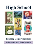High School Reading Comprehension: Informational Text Bundle