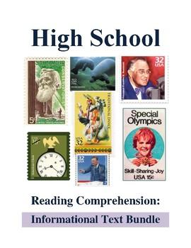 High School Reading Comprehension: Informational Text Bundle