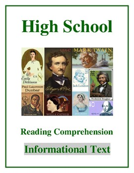 """High School Reading Comprehension: Informational Text """"How the Other Half Lives"""""""