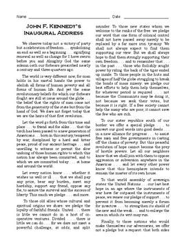 jfk inaugural address pdf