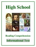 """High School Reading Comprehension: Informational Text """"On Women's Right to Vote"""""""