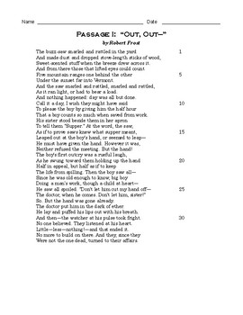 High School Reading Comprehension: Paired Passages - Frost and Shakespeare