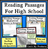 High School Reading Comprehension Passages and Questions D