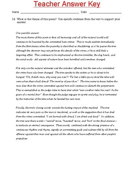 """High School Reading Comprehension: Poetry- """"The Haunted Oak"""" by Paul L. Dunbar"""