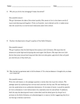 "High School Reading Comprehension: W.E.B. DuBois' ""Quest for the Silver Fleece"""