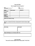 High School Reading Growth Reflection Sheets
