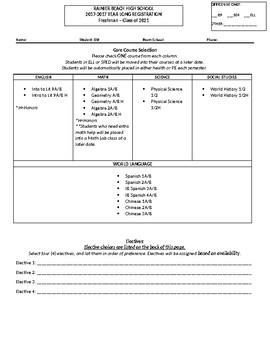 High School Registration From