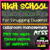High School Student Remediation Plan for Struggling Students (MTSS)